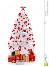 christmas tree in red christmas lights decoration
