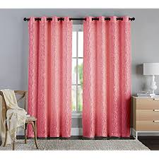 Coral And Navy Curtains Decorating Target Eclipse Curtains 96 Inches Coral Black