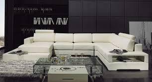 Leather U Shaped Sofa U Shaped Off White Leather Sectional Sofa Set New York City