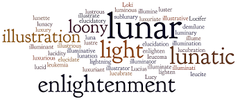 what is the latin root meaning light monday madness blame it on the moon a journée in language