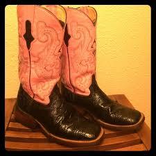 ferrini s boots size 11 55 ferrini shoes ferrini pink and black square toe cowboy