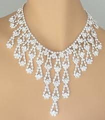 bib necklace rhinestone images Prom jewelry swarovski rhinestone cascading bib necklace JPG