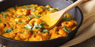 cuisiner coco plat poêlée de crevettes curry coco recettes femme actuelle