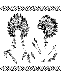 coloring pages of indian feathers native american symbols native american coloring pages for adults