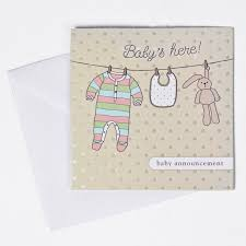 baby announcement cards baby announcement cards pack of 10 only 1 49