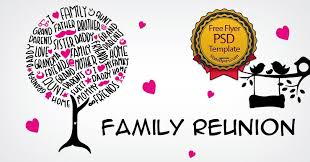 family reunion free psd flyer template free 12061