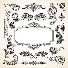 frame border pattern flowers vector vintage ornamental design