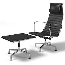 Office Chaise Lounge Chair Aluminum Group 3d Model