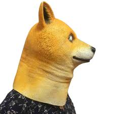 Doge Halloween Costume Wow Kabosu Doge Meme Headgear Latex Masks Halloween Party