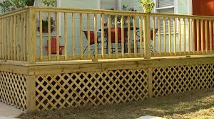 lattice deck skirting installation deck design and ideas