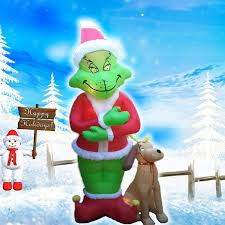 grinch inflatable christmas decorations amazon christmas decor ideas