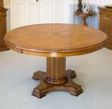 Round Pedestal Dining Table With Leaf Dining Tables 48 Round Table With Leaf 4 Dining Room Chairs