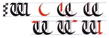 more gothic writing capital gothic letters a z