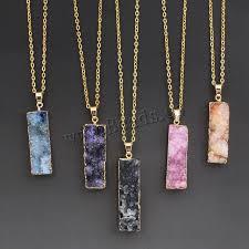 natural quartz necklace images Women 39 s colorful natural stone necklace pink quartz crystal jpg