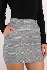 plaid skirt plaid attitude grey skirt 29 tobi us