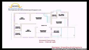 kerala style 3 bedroom house plans single floor youtube