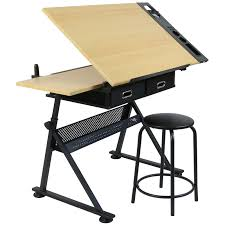 Artists Drafting Table Hartleys Drawing Table With 2 Drawers Drafting Bench Artists