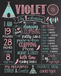1st birthday chalkboard birthday chalkboard teepee poster sign tribal 1st