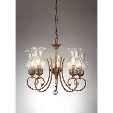5 Light Bronze Chandelier Bailona 5 Light Glass Shade 21 Inch Antique Bronze Chandelier