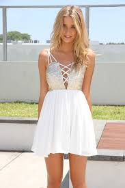 white party dresses white sleeveless dress with sequin cutout criss crosstop