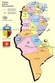 map of tunisia with cities tunisia map and tunisia satellite image