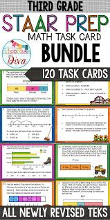 3rd grade staar math task cards covers all newly revised teks