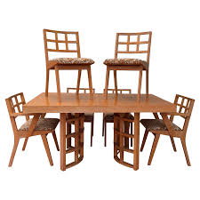 1950s jens risom for knoll dining set in maple chairish
