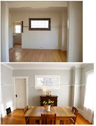 painting wood trim white before and after pictures
