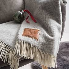 personalised herringbone throw by stabo notonthehighstreet