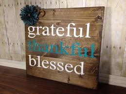 grateful thankful blessed sign rustic home decor teal rustic zoom