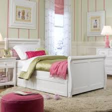 Single Sleigh Bed Captains Bed With Trundle And Storage Drawers Foter