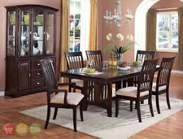 dining room sets with china cabinet contemporary dark cappuccino dining room set table 6 chairs