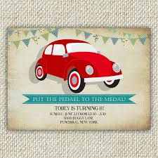 punch buggy car drawing vintage car birthday invitation vw bug beetle birthday party
