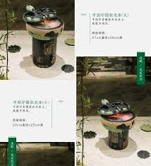 Office Desk Aquarium Creative Fengshui Round Lucky Water Fountain Room Decoration