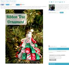 how to make ornaments with ribbon