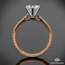 cathedral setting cathedral three quarter set eternity diamond engagement