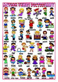 173 free esl action verbs worksheets