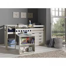 lit surélevé avec bureau mezzanine avec bureau