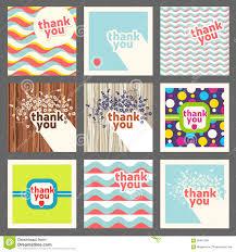 Thank You Card Designs Retro Thank You Message Sign Design Stock Vector Image 63683080