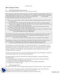 Example Of Inquiry Letter For Business by Direct Request Letters Part 2 Communication Skills Lecture Handout
