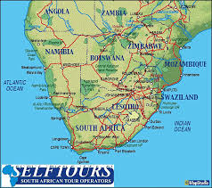 africa map in south road maps self tours