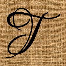 monogram letter t monogram initial letter t letter clip letter decal