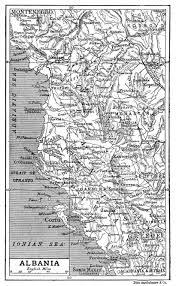 Map Of Albania Large Detailed Old Map Of Albania With Relief U2013 1906 Vidiani Com
