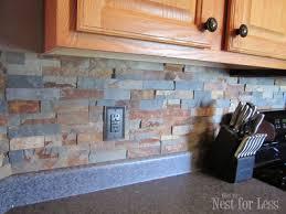 DIY Stone And Pebble Kitchen Backsplashes To Make Shelterness - Diy backsplashes