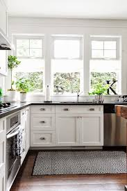 Yum Kitchen Rug Love The Dark Wood White Cabinets And Grey Tile For The Home