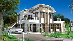 house curved roof style kerala home design floor plans