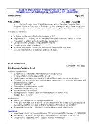 Resume Headline For It Engineer 34509634 Experienced Electrical Engineer Cv Electrical
