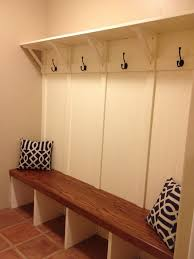 Entryway Bench And Storage Shelf With Hooks Mudroom Built In Bench Rc Handyman Services Mud Room Built In
