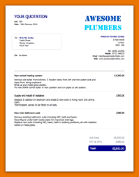 Plumber Estimate by Quote Template Plumber Quote Template Png Scope Of Work Template