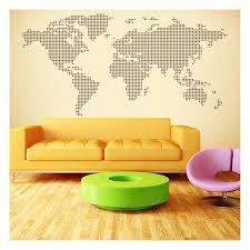Decorative World Map Vinyl World Map Points Circles
